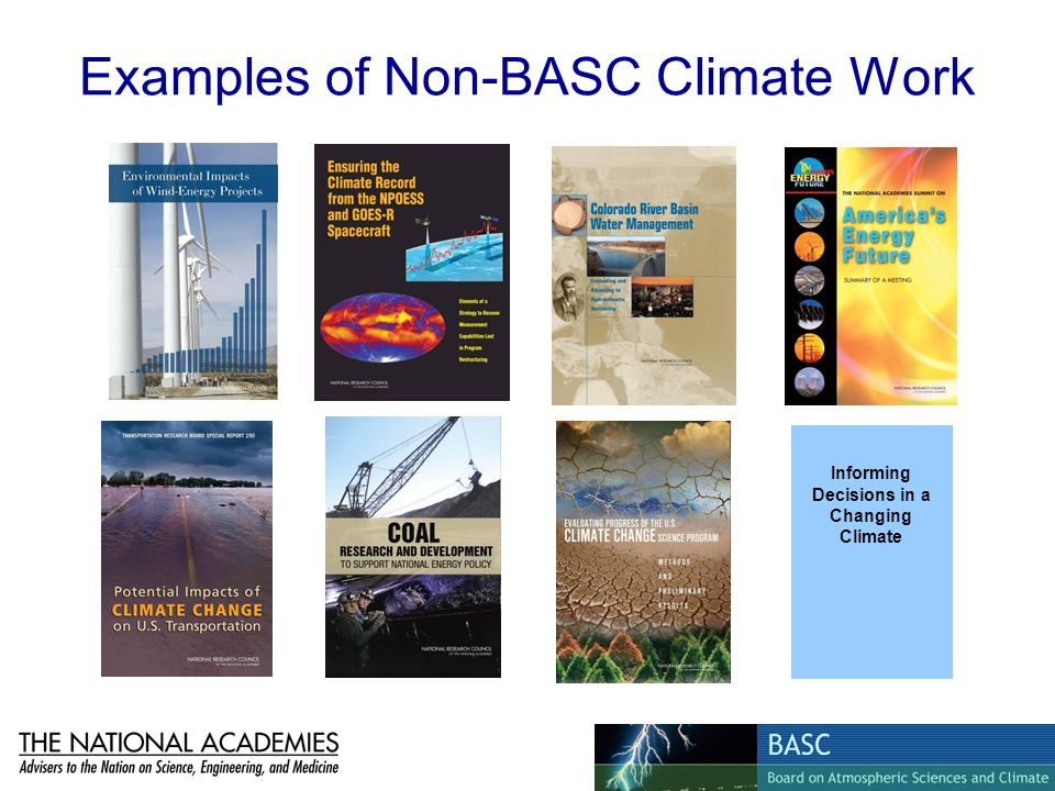 Examples of Non-BASC Climate Work