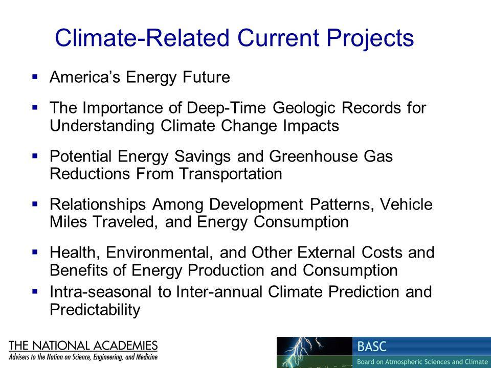 Climate-Related Current Projects