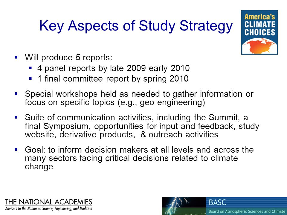Key Aspects of Study Strategy