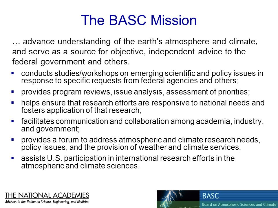 The BASC Mission