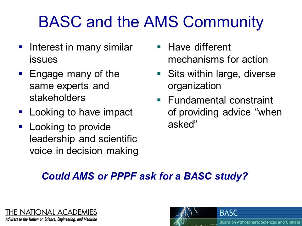 BASC and the AMS Community