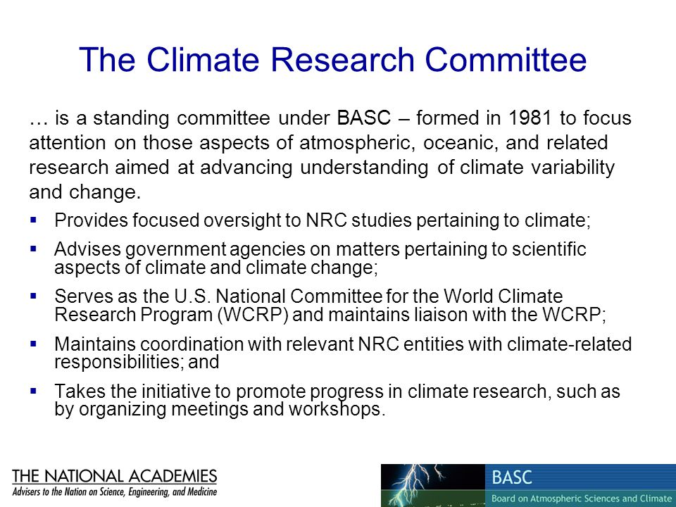 The Climate Research Committee