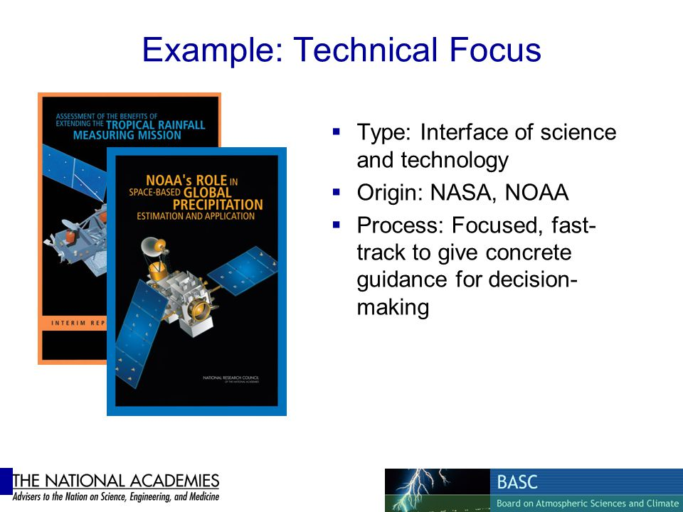 Example: Technical Focus