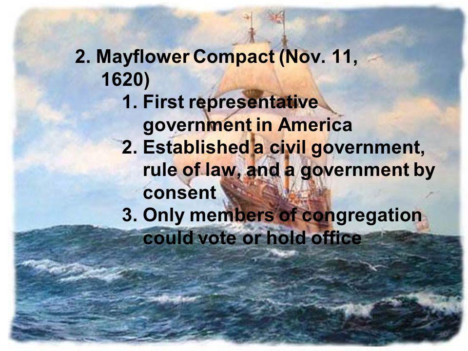 2. Mayflower Compact (Nov. 11,