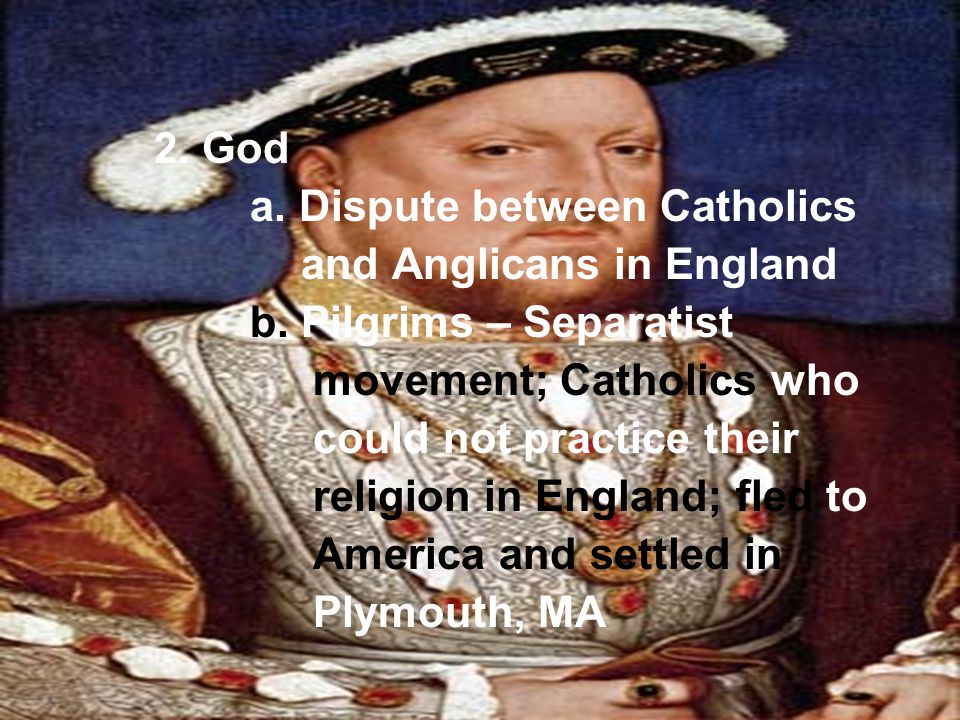 a. Dispute between Catholics and Anglicans in England