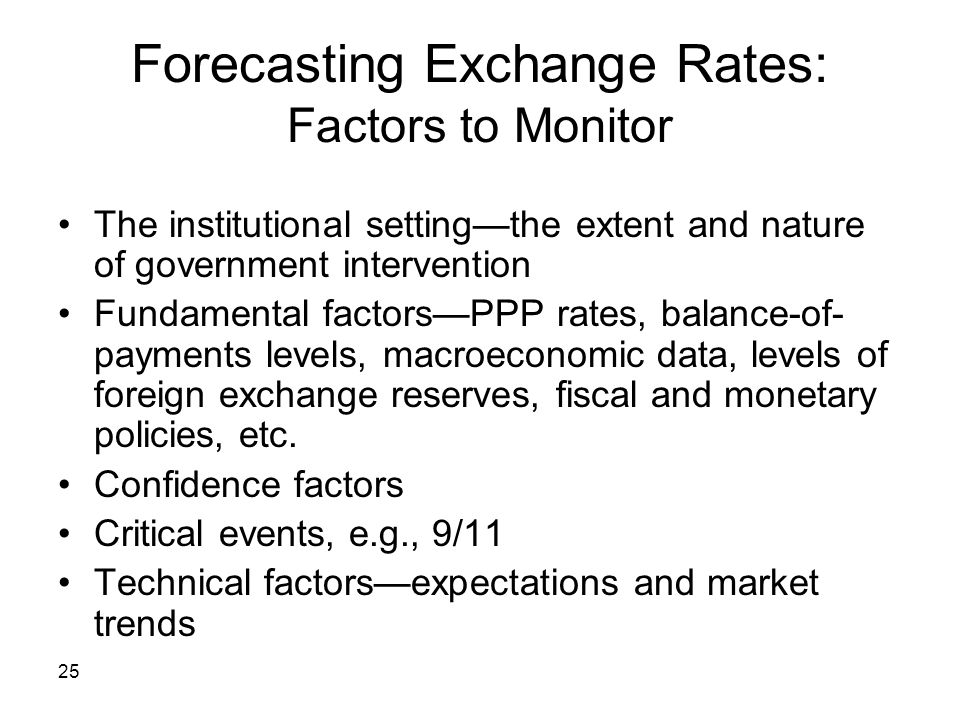 Forecasting Exchange Rates: Factors to Monitor
