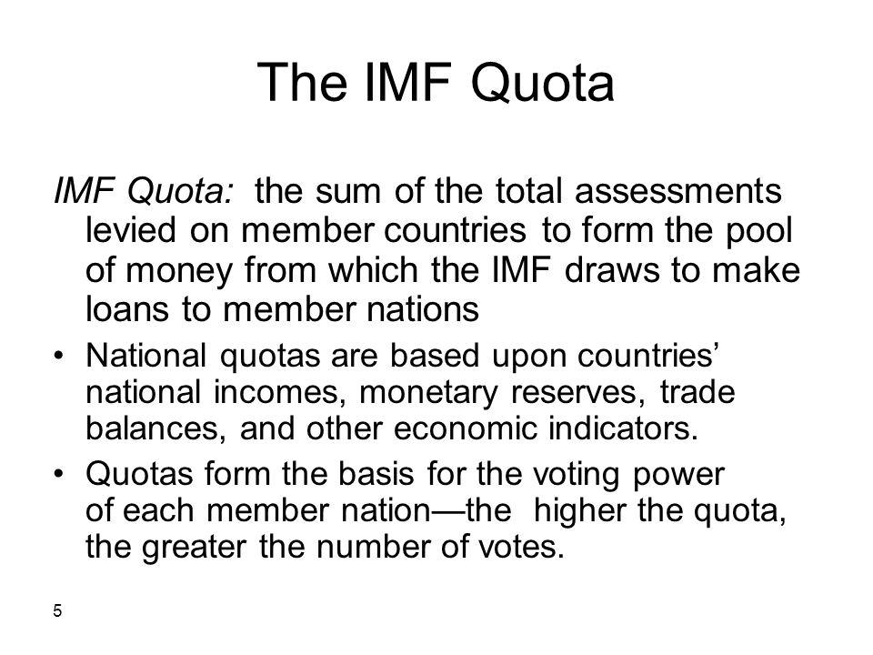 The IMF Quota