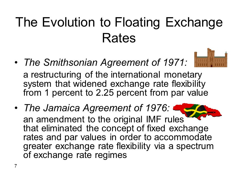 The Evolution to Floating Exchange Rates