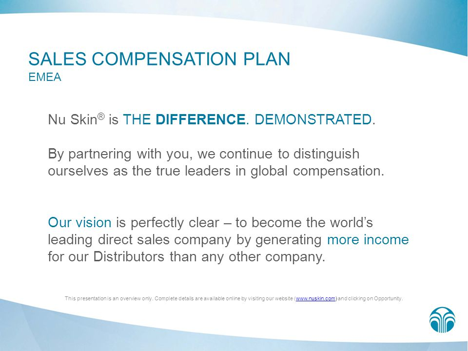 SALES COMPENSATION PLAN EMEA