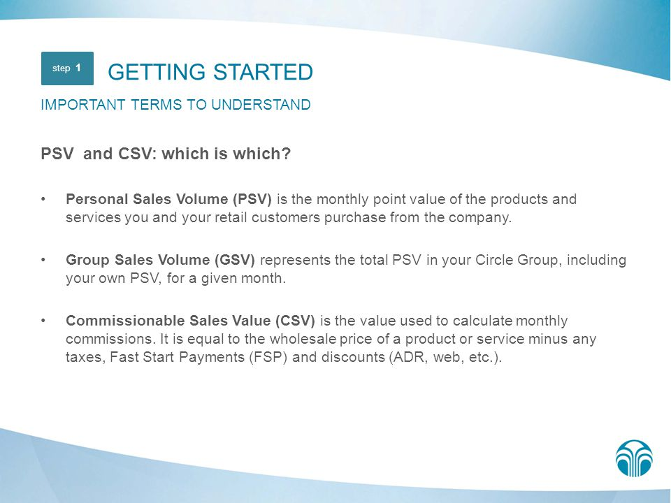 GETTING STARTED PSV and CSV: which is which