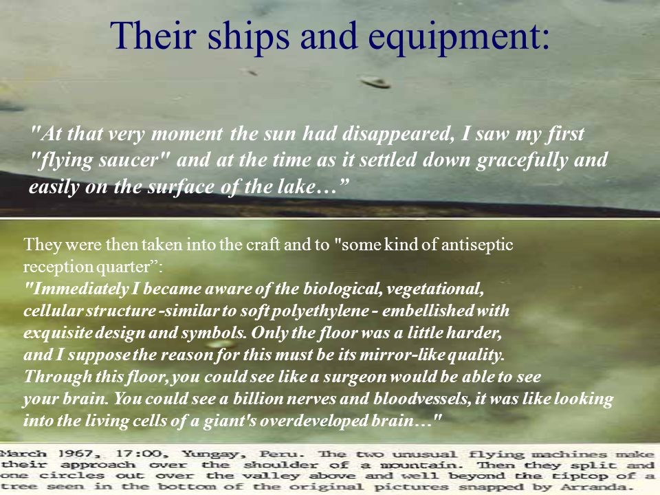 Their ships and equipment: