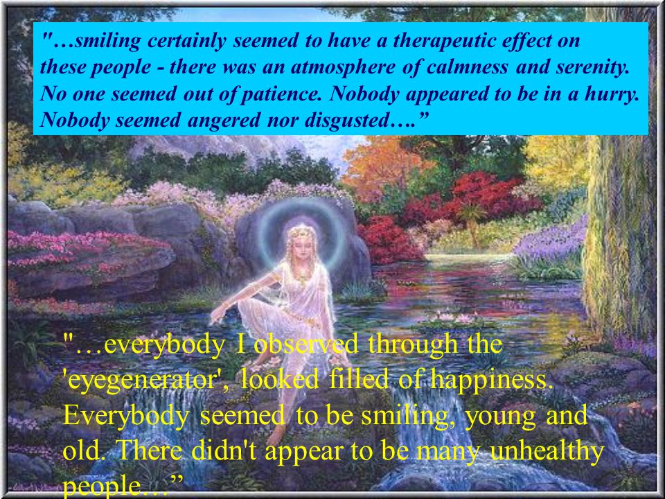 …smiling certainly seemed to have a therapeutic effect on