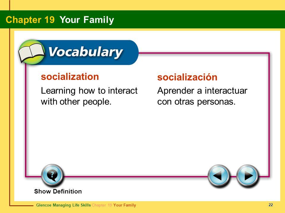 socialization socialización