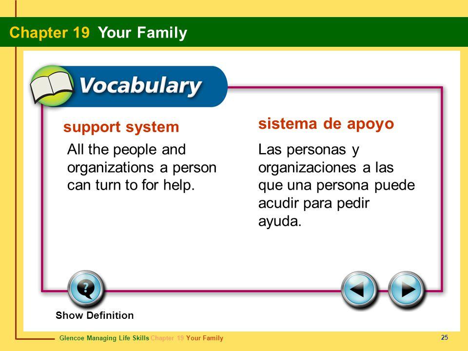 sistema de apoyo support system