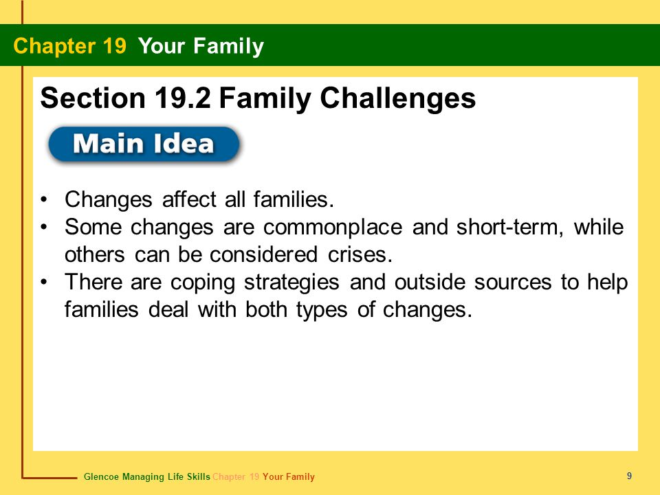Section 19.2 Family Challenges