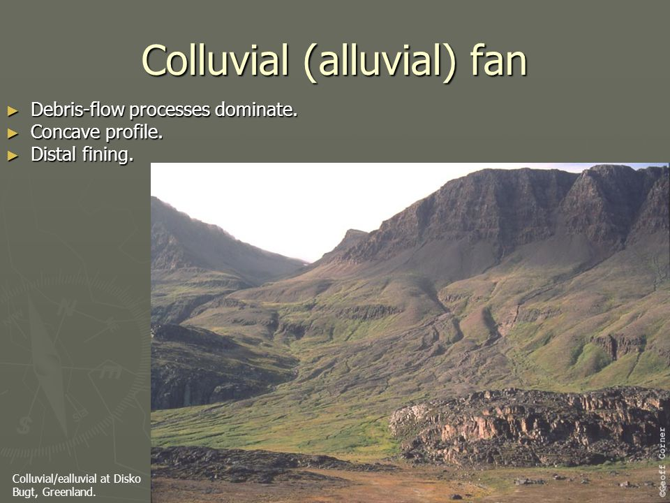 Colluvial (alluvial) fan