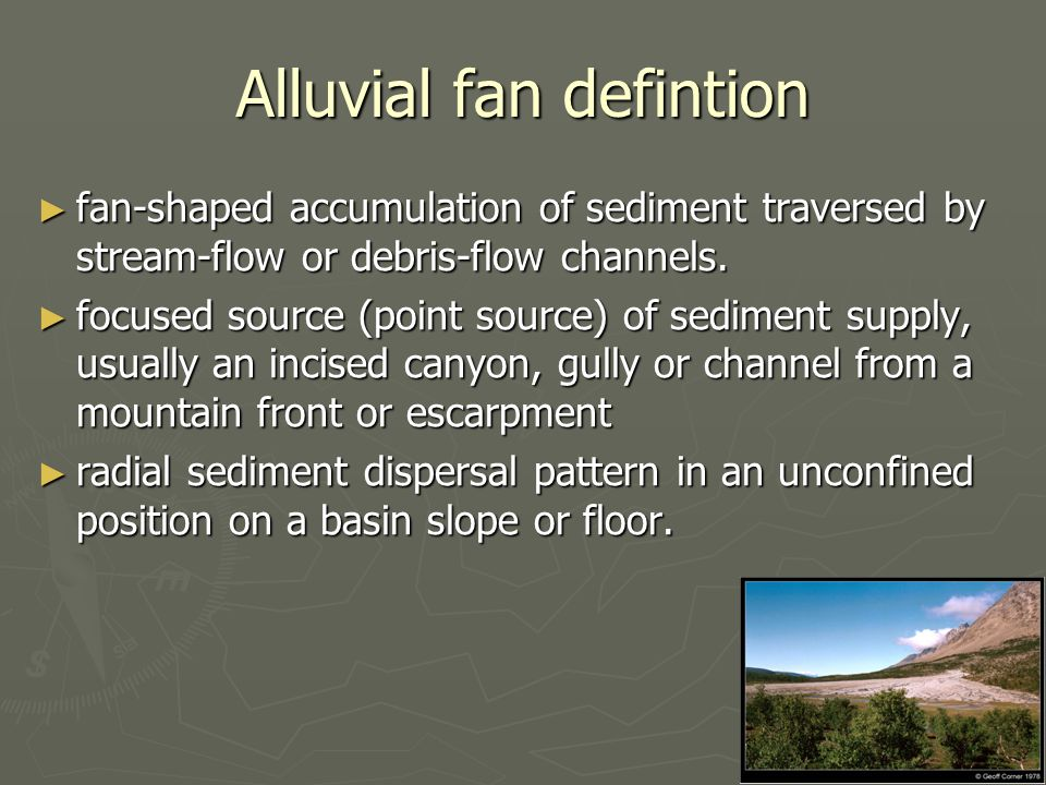 Alluvial fan defintion