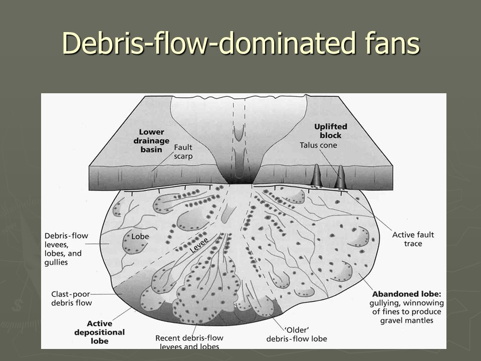 Debris-flow-dominated fans