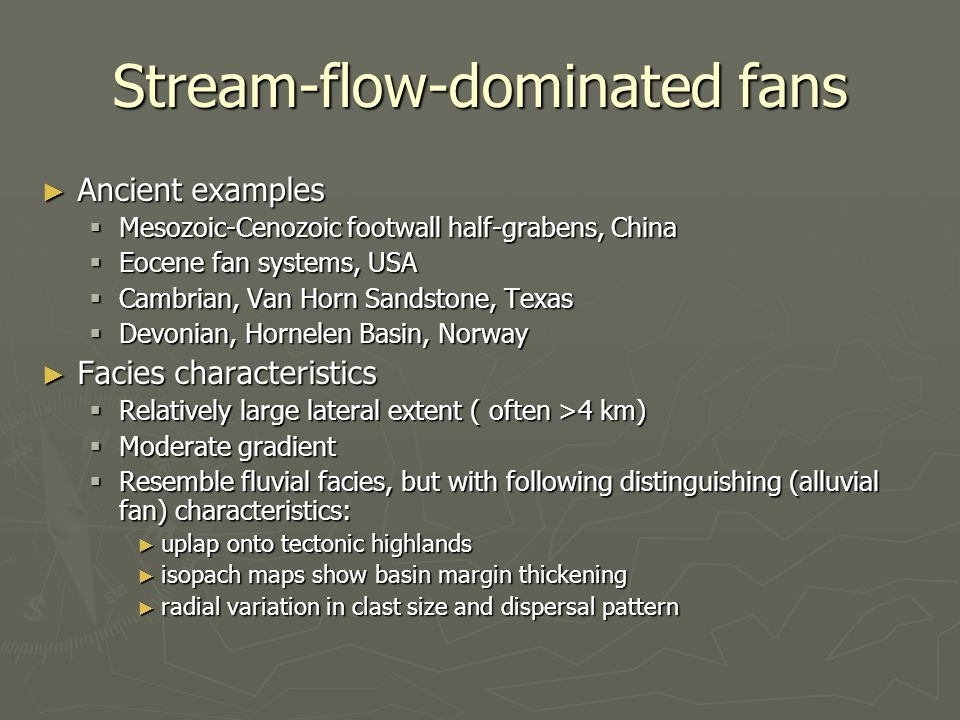 Stream-flow-dominated fans