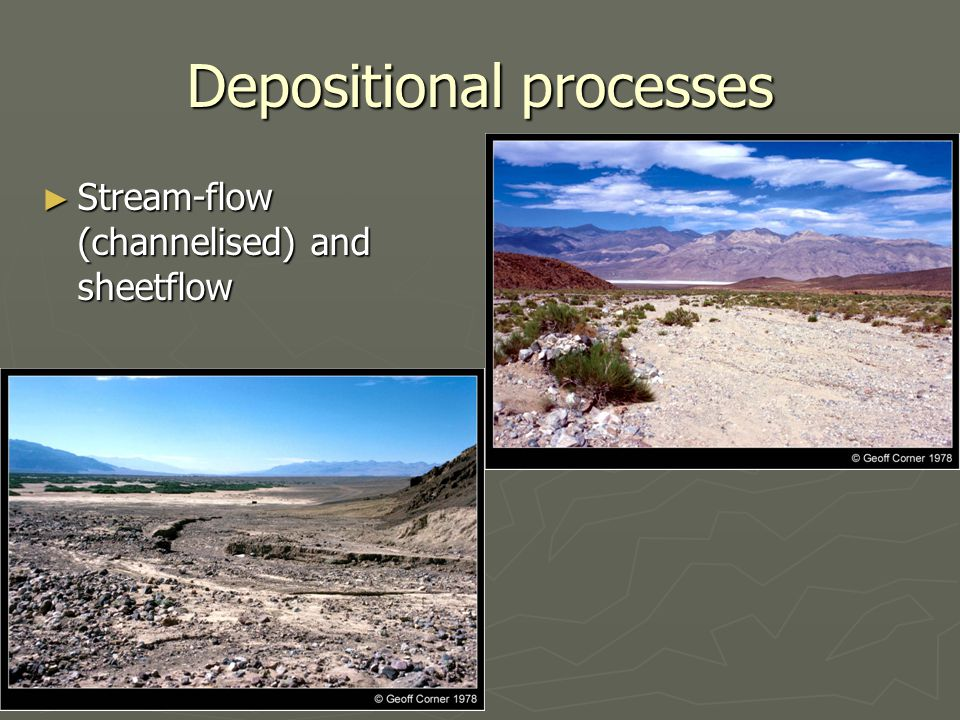 Depositional processes