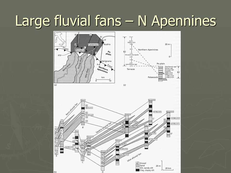 Large fluvial fans – N Apennines