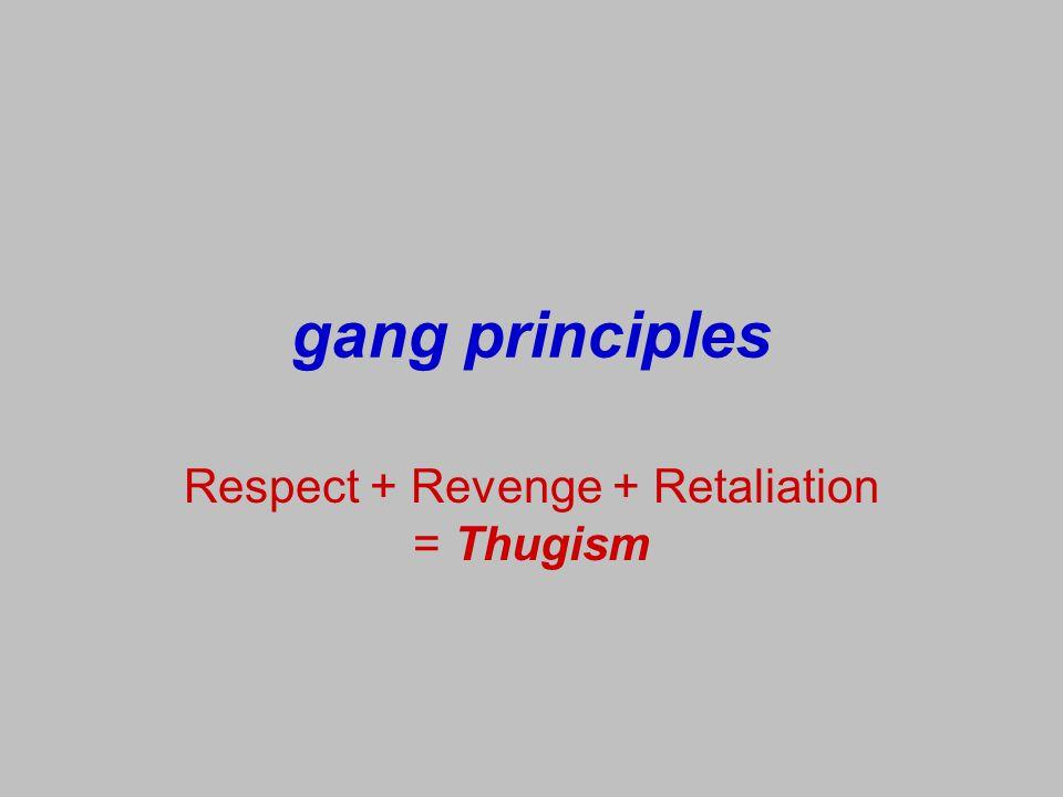 Respect + Revenge + Retaliation = Thugism