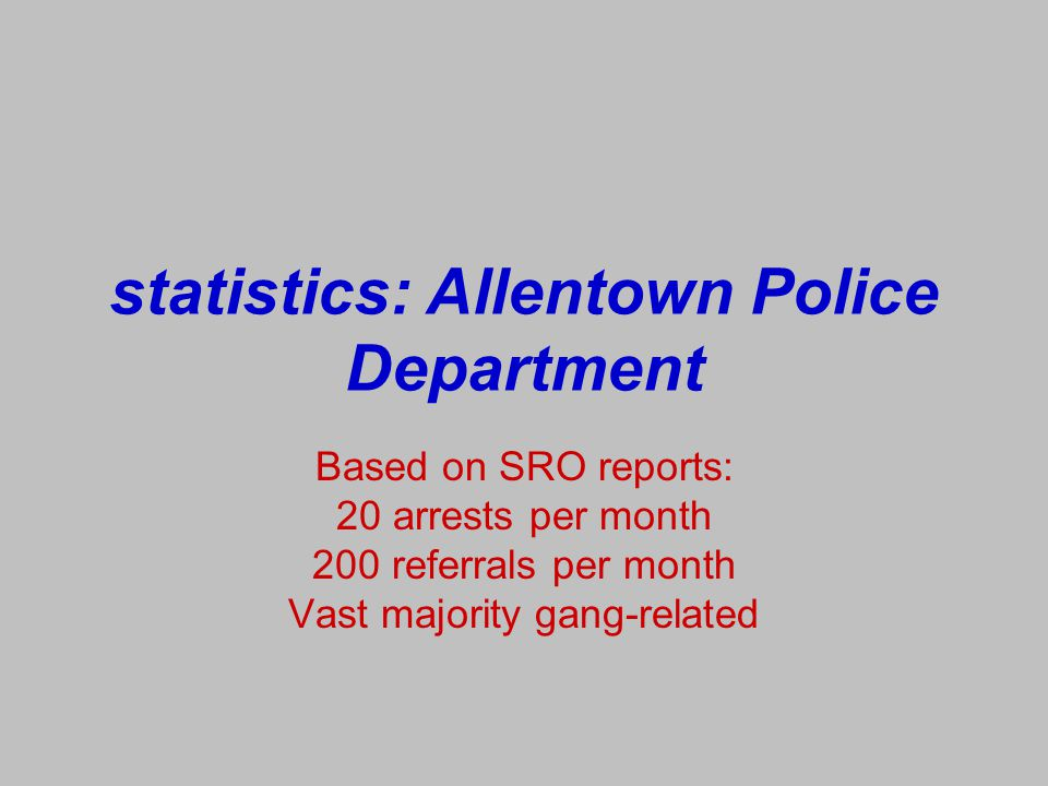 statistics: Allentown Police Department