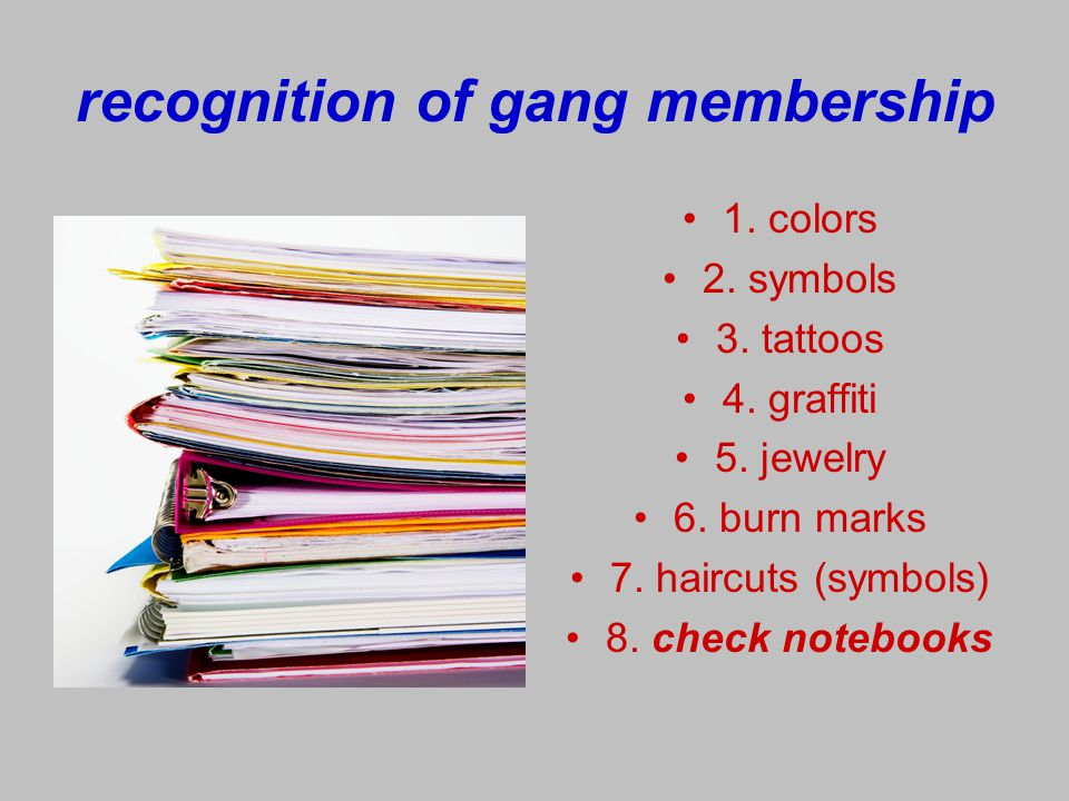 recognition of gang membership