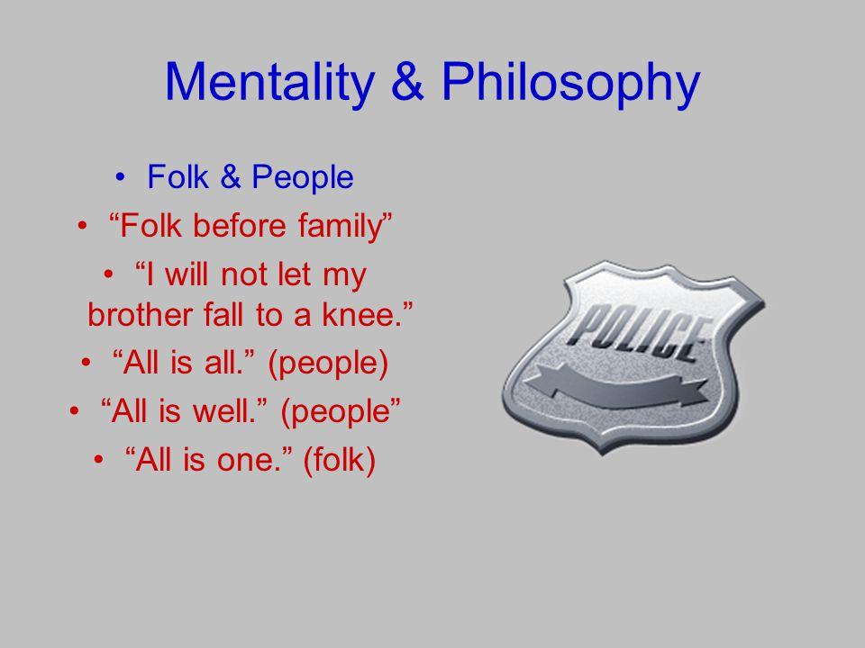 Mentality & Philosophy