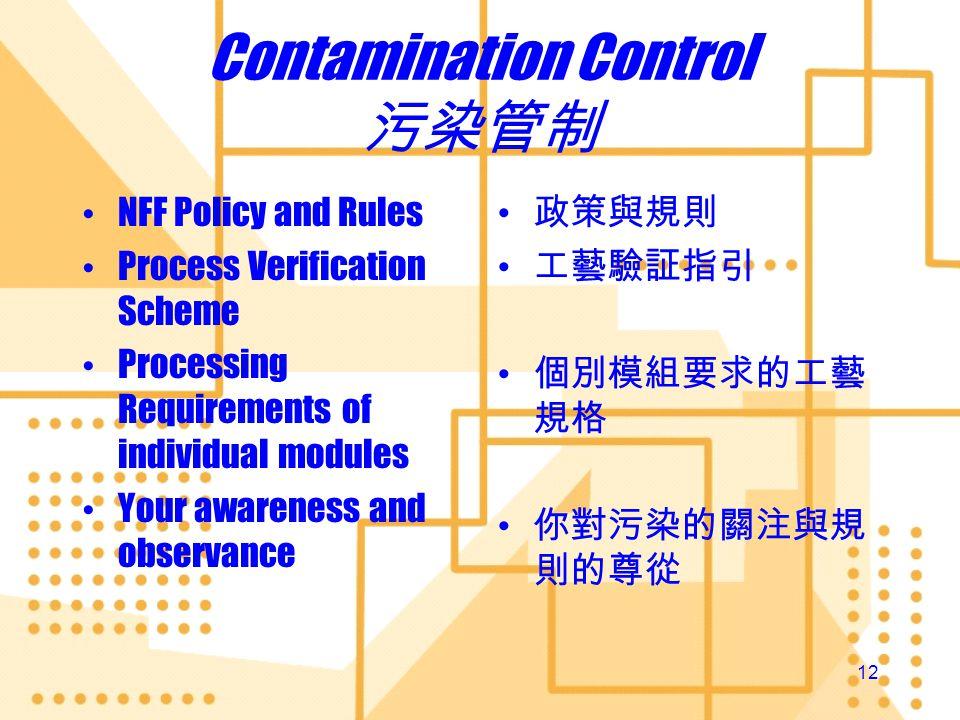 Contamination Control 污染管制