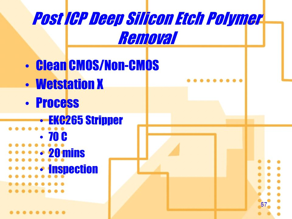 Post ICP Deep Silicon Etch Polymer Removal