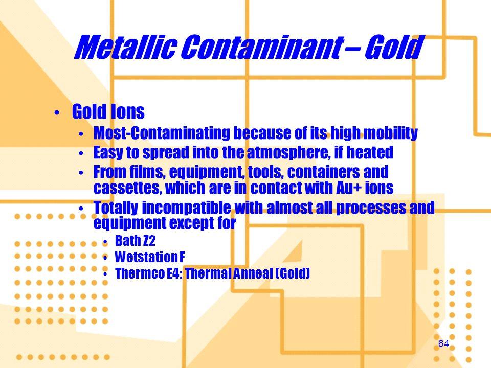 Metallic Contaminant – Gold