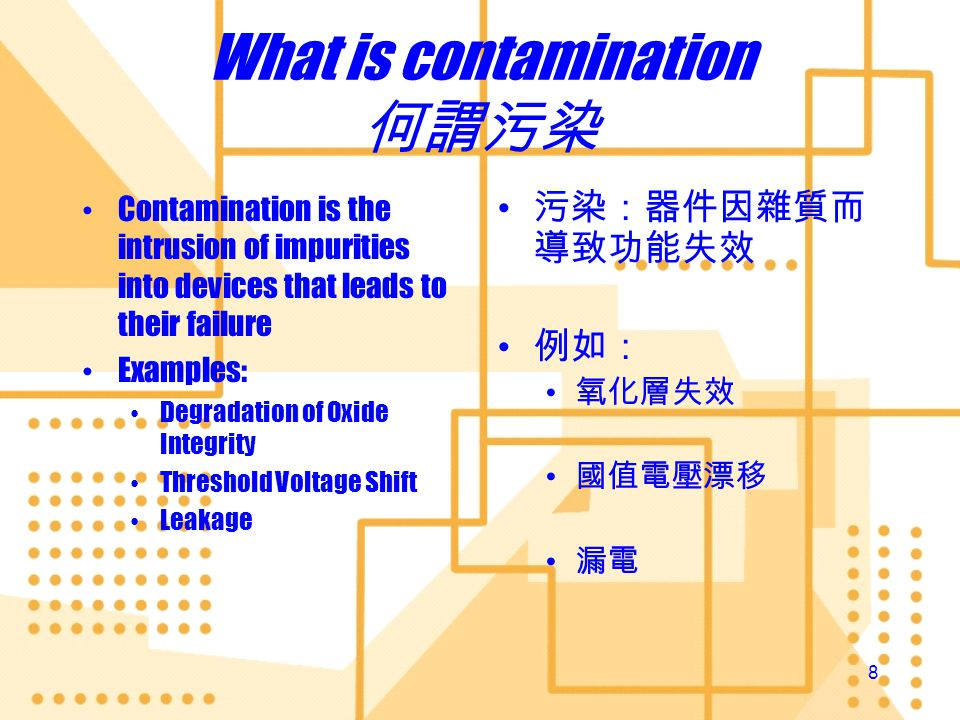 What is contamination 何謂污染