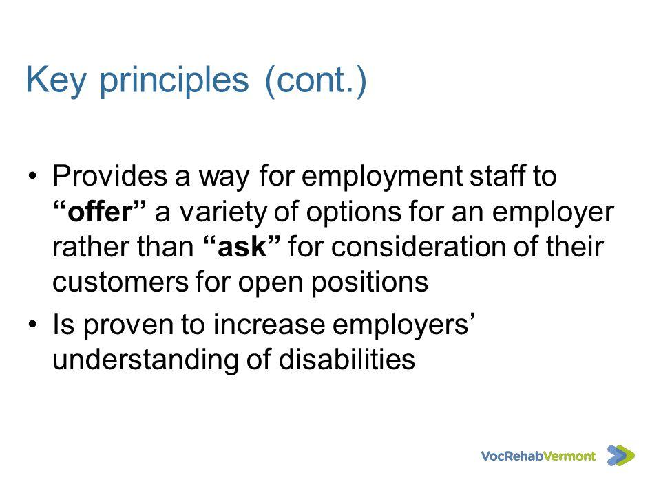Key principles (cont.)