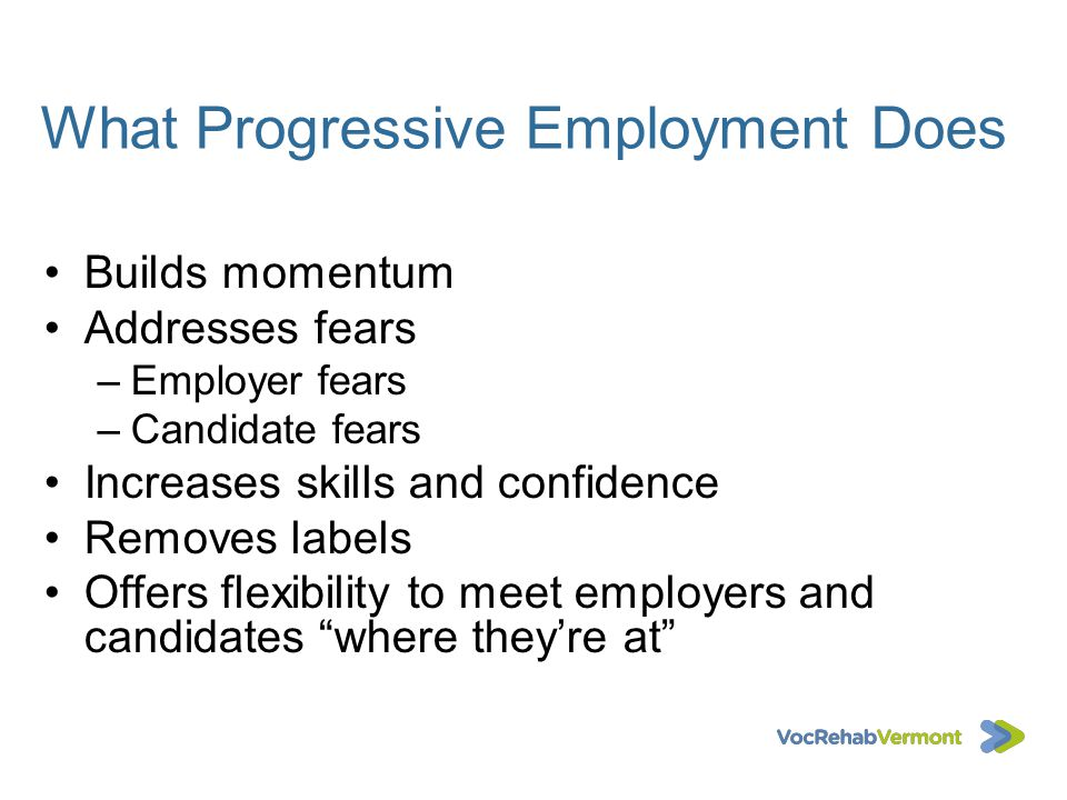 What Progressive Employment Does