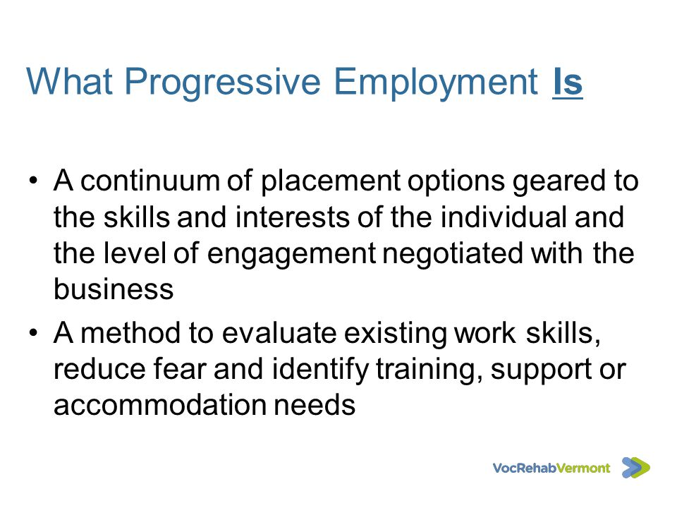 What Progressive Employment Is