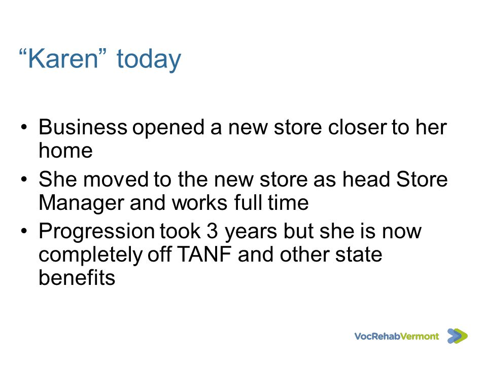 Karen today Business opened a new store closer to her home