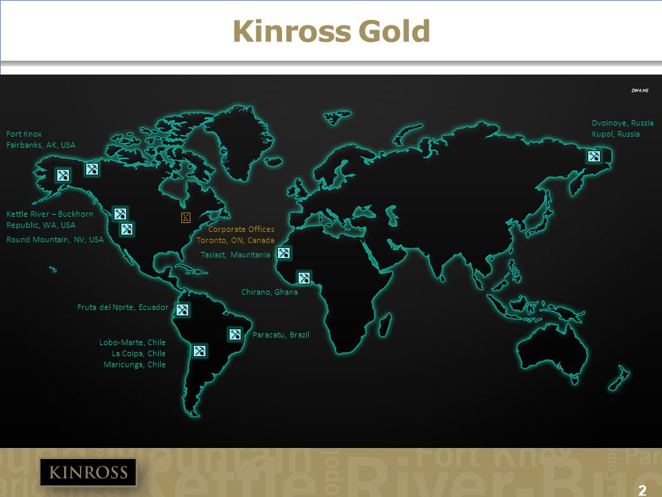 Kinross Gold Discussion points: