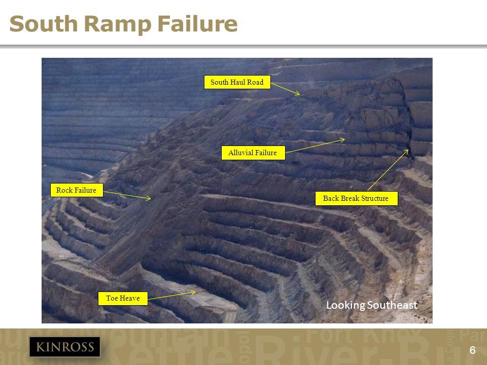 South Ramp Failure Looking Southeast South Haul Road Alluvial Failure