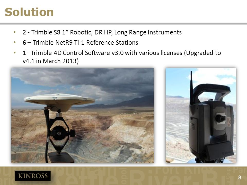 Solution 2 - Trimble S8 1 Robotic, DR HP, Long Range Instruments