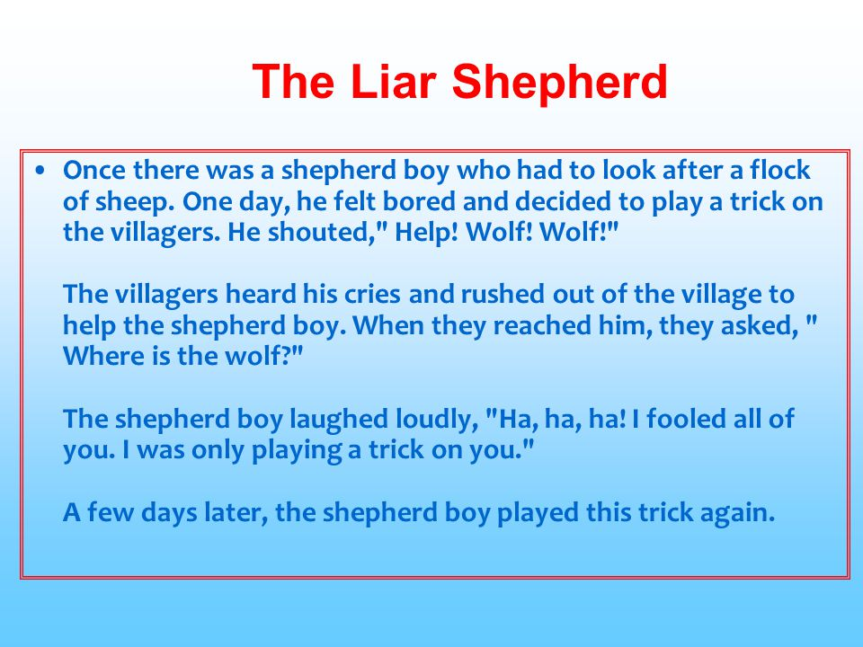The Liar Shepherd