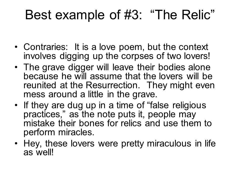 Best example of #3: The Relic