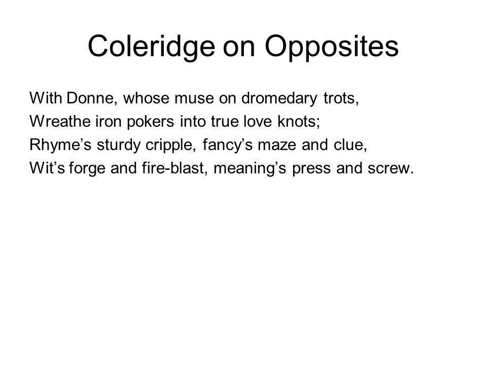 Coleridge on Opposites