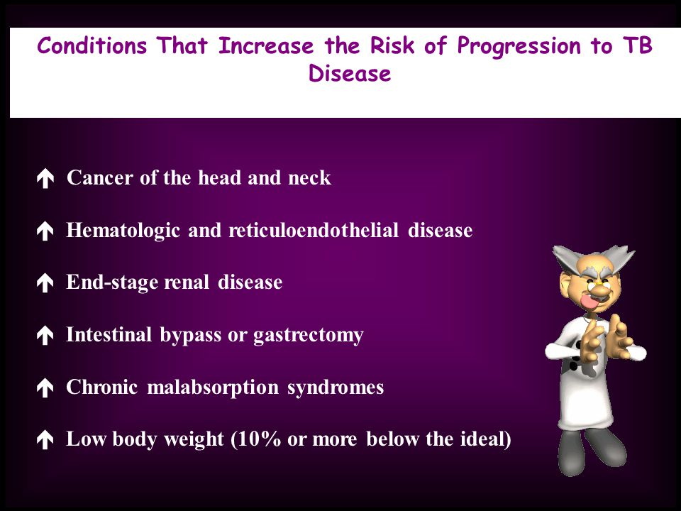 Conditions That Increase the Risk of Progression to TB