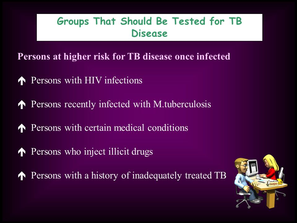 Groups That Should Be Tested for TB Disease