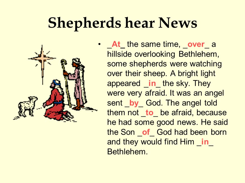 Shepherds hear News