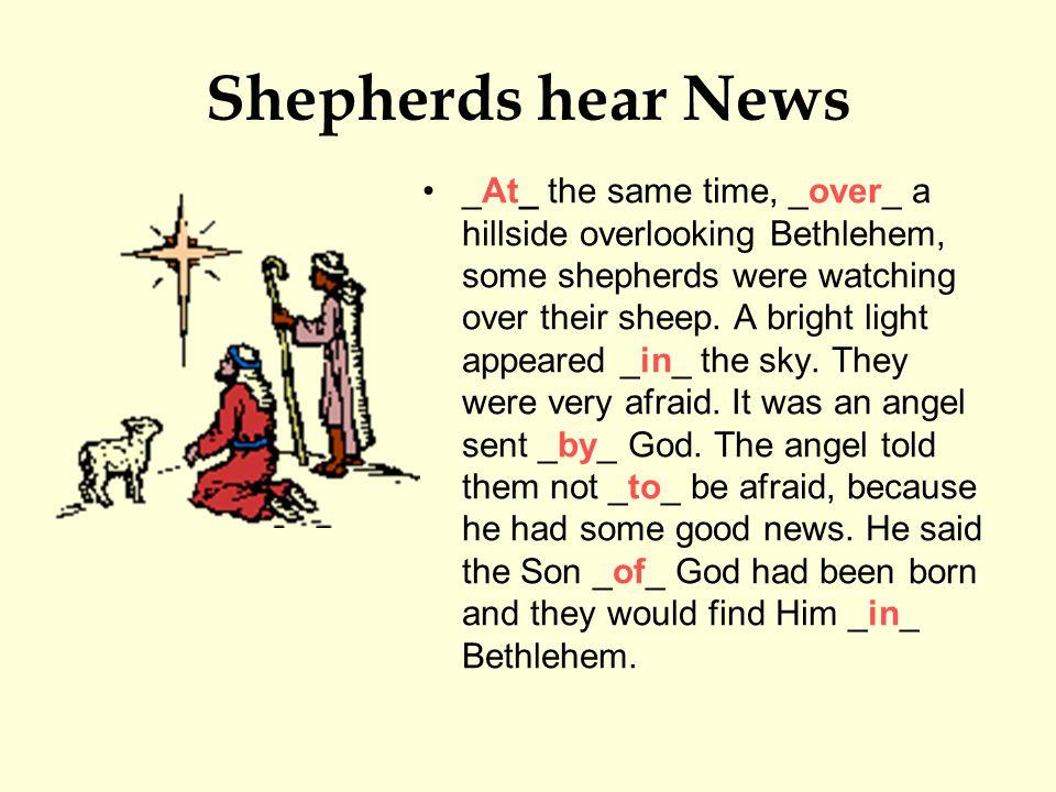 Shepherds hear News