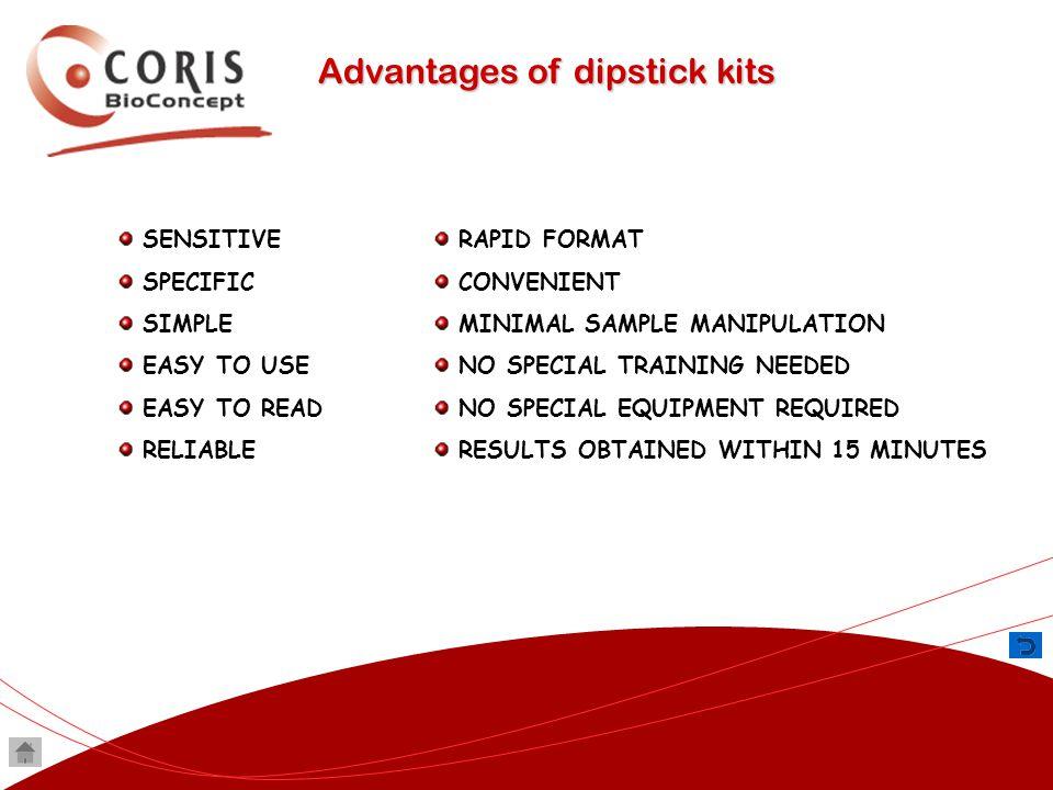 Advantages of dipstick kits