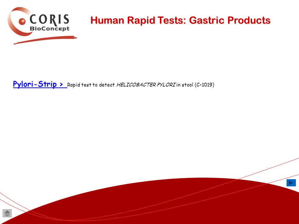 Human Rapid Tests: Gastric Products