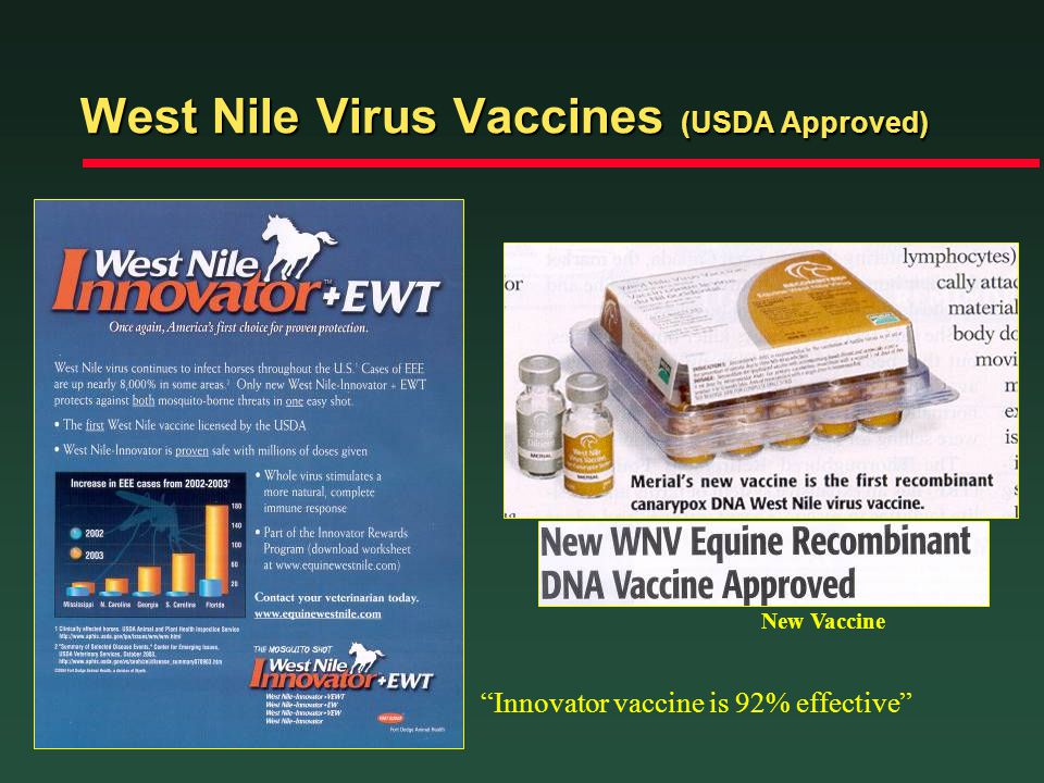 West Nile Virus Vaccines (USDA Approved)